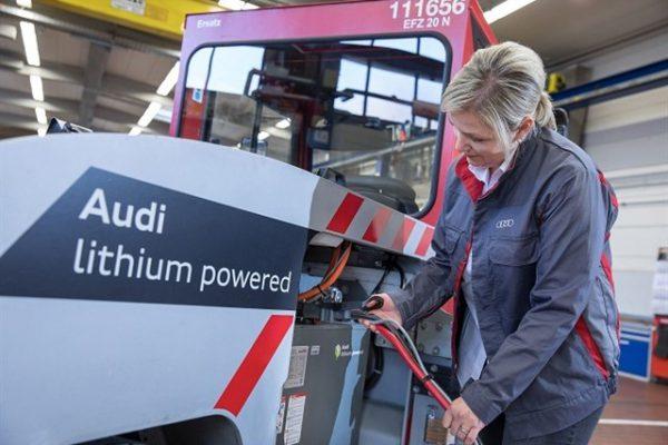 Audi instala baterías de iones de litio usadas en sus vehículos industriales